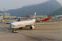 Aviões de jato no aeroporto Foto de Stock