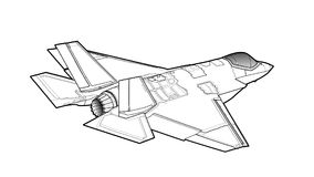 Aviões de lutador americanos modernos do jato Fotografia de Stock
