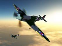 Aviões de lutador britânicos da segunda guerra mundial Imagens de Stock Royalty Free