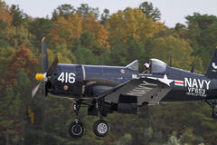 Aviões de lutador do Corsair da segunda guerra mundial Imagens de Stock