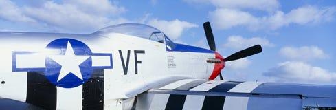 Aviões de lutador do vintage P51 foto de stock