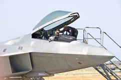 Aviões de lutador táticos da ave de rapina de Lockheed Martin F-22 Imagem de Stock Royalty Free