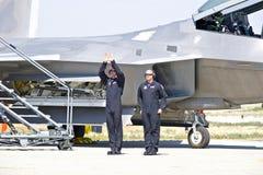 Aviões de lutador táticos da ave de rapina de Lockheed Martin F-22 Fotografia de Stock Royalty Free