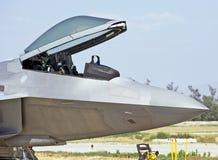 Aviões de lutador táticos da ave de rapina de Lockheed Martin F-22 Foto de Stock Royalty Free