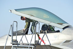 Aviões de lutador táticos da ave de rapina de Lockheed Martin F-22 Fotos de Stock Royalty Free