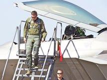 Aviões de lutador táticos da ave de rapina de Lockheed Martin F-22 Imagem de Stock