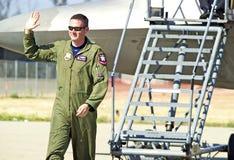 Aviões de lutador táticos da ave de rapina de Lockheed Martin F-22 Fotos de Stock