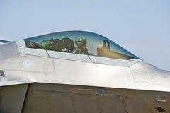 Aviões de lutador táticos da ave de rapina F-22 Imagem de Stock