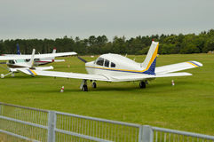 Aviões de Microlight no aeroporto Foto de Stock