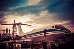 Aviões de passageiro Foto de Stock