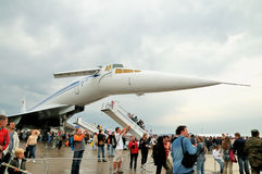 Aviões de passageiro Tu-144 do russo Fotos de Stock