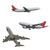 Aviões de passagem isolados Foto de Stock