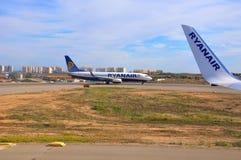 Aviões de Ryanair imagem de stock royalty free