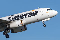 Aviões de Tiger Airways Tigerair Airbus A320 Fotos de Stock Royalty Free