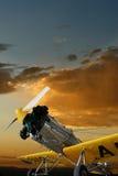 Aviões de treinamento do vintage do único motor Imagem de Stock Royalty Free