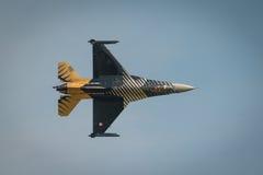 Aviões diplay de solo do F16 da força aérea turca Imagem de Stock Royalty Free