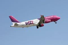 Aviões do ar de Wizz Imagem de Stock