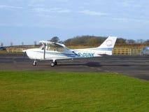 Aviões do clube no aeródromo privado Fotos de Stock Royalty Free