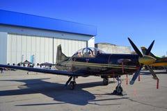 Aviõesdo ilatus PC-9M de Ð Foto de Stock Royalty Free