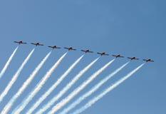 Aviões do jato na formação Imagens de Stock Royalty Free