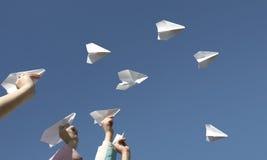 Aviões do papel Fotografia de Stock