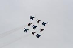 Aviões do russo no airshow Imagens de Stock