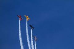 Aviões do suporte na mostra de ar de Chicago Imagem de Stock
