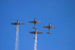 Aviões do vintage durante a mostra Fotografia de Stock Royalty Free