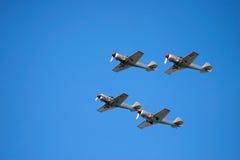 Aviões do vintage durante a mostra Fotos de Stock Royalty Free