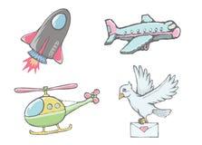 Aviões do voo Fotografia de Stock