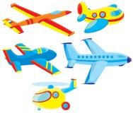 Aviões e helicóptero ilustração stock