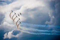 Aviões em uma mostra do vôo Imagens de Stock