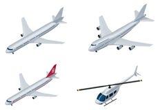 Aviões isométricos do vetor Imagens de Stock Royalty Free