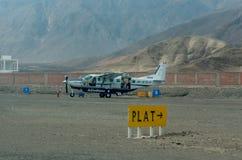 Aviões leves em Nazca, Peru fotos de stock