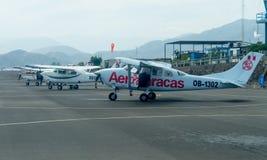 Aviões leves em Nazca, Peru foto de stock royalty free