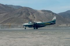 Aviões leves em Nazca, Peru fotos de stock royalty free