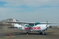 Aviões leves em Nazca, Peru imagem de stock royalty free