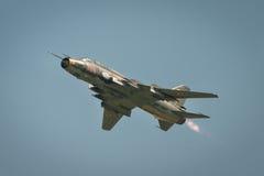 Aviões mais aptos da SU 22 poloneses da força aérea fotos de stock
