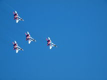 Aviões militares SU 27 fotos de stock royalty free