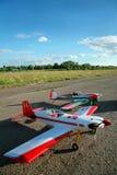 Aviões modelo modernos Fotografia de Stock Royalty Free