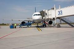 Aviões na terra Fotos de Stock Royalty Free