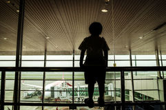 Aviões na terra Imagens de Stock Royalty Free