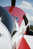 Aviões no airshow fotografia de stock