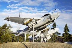 Aviões, porto do carvalho, ilha de Whidbey, Washington Fotografia de Stock