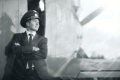 Aviões próximos piloto do vintage Fotografia de Stock Royalty Free
