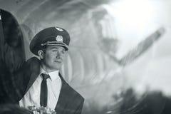 Aviões próximos piloto do vintage Foto de Stock Royalty Free