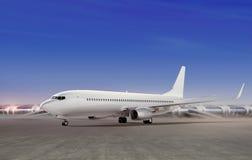 Aviões que preparam-se para descolar imagem de stock