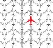 Aviões sem emenda do teste padrão - vetor Imagem de Stock