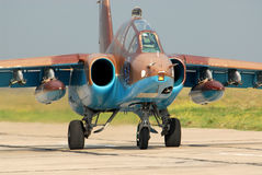 aviões Su-25 do Treinamento-ataque Imagens de Stock