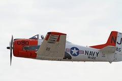Aviões T-28 militares da segunda guerra mundial Foto de Stock